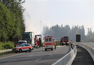 جرح 14 شخصا في حادث مروري بنفق جنوبي ألمانيا