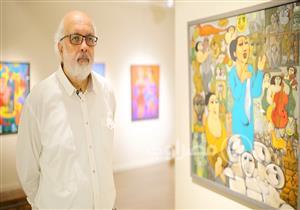 """جمهور الست.. عالم """"أم كلثوم"""" يتجسد في لوحات الرسام مصطفى رحمة"""