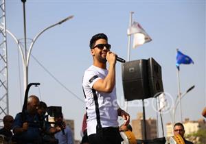 15 صورة ترصد مشاهد حفل المطرب أحمد جمال في جامعة عين شمس
