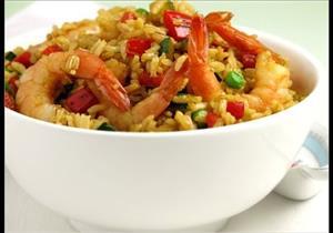 """وصفه جديدة لـ طريقة عمل """"جمبري بالخلطة مع أرز بالكاري""""- فيديو"""