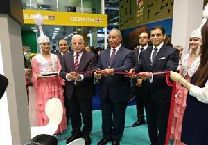 بالصور- محافظ جنوب سيناء يشارك في افتتاح الجناح المصري بمعرض كازاخستان للسياحة