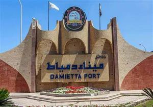 ميناء دمياط يستقبل 9 سفن عملاقة ويصدر 7850 طن يوريا