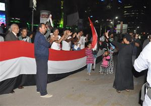 بالصور.. مواطنو الجيزة يحتفلون بفوز الرئيس السيسي بالولاية الثانية