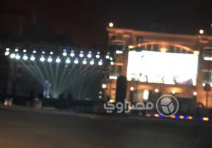 """بالصور .. سكان التجمع الخامس يستعدون للاحتفال بإعلان فوز """"السيسي"""" في انتخابات الرئاسة"""