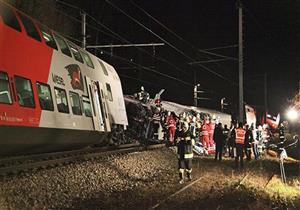 إصابة العشرات جراء تصادم قطارين في النمسا