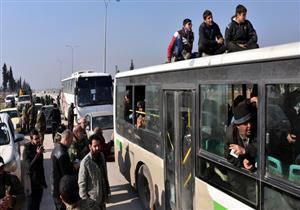 خروج مسلحي المعارضة السورية من القلمون إلى ريف حلب