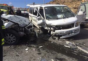 بالأسماء.. إصابة 11 في حادث تصادم بالوادي الجديد