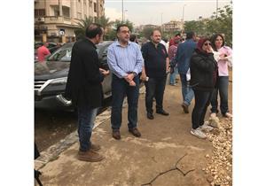 بعد غرقها في مياه الأمطار.. وزير الإسكان يتفقد شوارع القاهرة الجديدة - صور