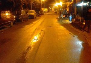 بالصور.. سقوط أمطار خفيفة على كفر الشيخ