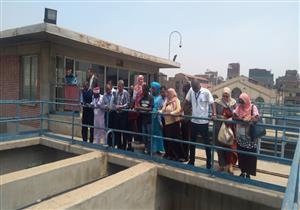بالصور.. وفد أفريقي يزور محطة مياه روض الفرج