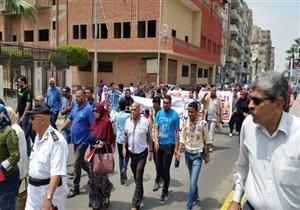 بالصور- مسيرة لتأييد الجيش المصري في بورسعيد
