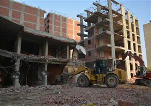 محافظة القاهرة: إزالة عقارين مخالفين في دار السلام - صور