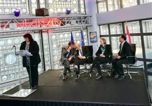 وزيرة الثقافة من باريس: قناة السويس رمز للتقارب بين الشعوب