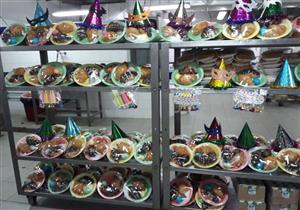 أطباق الفرحة.. هدية وحفل للأطفال مرضى السرطان في شم النسيم بأورام المنصورة (صور)