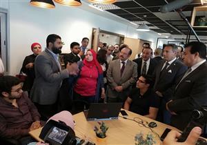 وزير التعليم العالي يفتتح بيتا للتصميم وحاضنة تكنولوجية في جامعة النيل