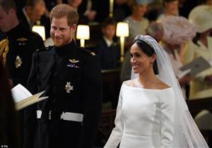 "هذا ما قاله ""هاري""  لـ""ميجان"" عند رؤيتها بفستان الزفاف"