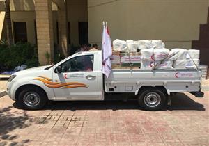 """""""التضامن"""": الهلال الأحمر يقدم 7 أطنان من المساعدات الطبية للفلسطينيين"""