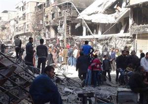 خروج الدفعة الأولى من مسلحي داعش من مخيم اليرموك في سوريا