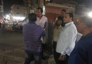 محافظ الأقصر في جولة ليلية لتفقد أعمال رصف الشوارع