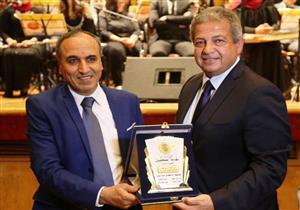 """بالصور.. """"الصحفيين"""" تكرم وزير الشباب والرياضة في حفل العاشر من رمضان"""