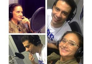 """بالصور- محمد فراج يقابل نيللي كريم عبر أثير الإذاعة في """"اعترافات خوخة"""""""