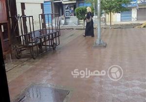 بالصور- سقوط أمطار خفيفة على كفر الشيخ
