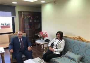 """رئيس """"الوطنية للانتخابات"""" يلتقي وزيرة الهجرة لبحث مقترحات المصريين بالخارج (صور)"""