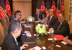 بدء الاجتماع الموسع بين ترامب وكيم في سنغافورة