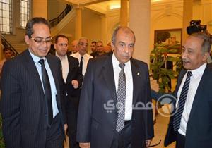 بالصور- أبوستيت يصل مقر وزارة الزراعة بعد حلف اليمين أمام السيسي