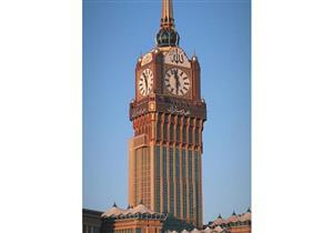 """""""عيد مبارك"""".. برج الساعة بالحرم المكى يهنئ المصلين"""