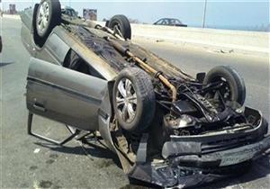 إصابة 4 في انقلاب سيارة ببني سويف