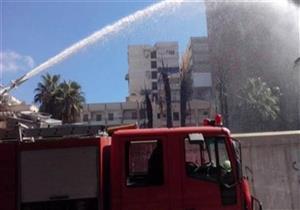 """السيطرة على حريق في شونة مضبوطات بـ""""مرور سيدي سالم"""" بكفر الشيخ"""