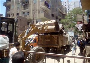 تحرير 26 محضر إشغال طريق في مغاغة بالمنيا