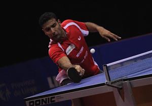 إيقاف عمر عسر لاعب تنس الطاولة لمدة عام