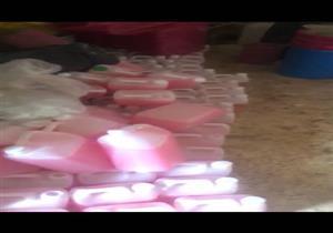 ضبط مصنع لإنتاج المنظفات من مواد مجهولة المصدر في القطامية