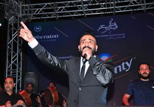 """بالصور.. أحمد سعد يتألق في خيمة """"فتافيت السكر"""" بحضور كهربا وصالح جمعة"""