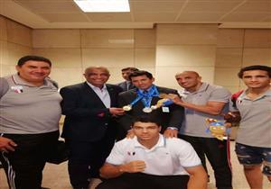 بالصور.. وزير الرياضة يستقبل بعثة البحر المتوسط