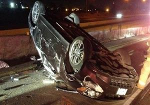 إصابة سائحين إيطاليين في انقلاب سيارة ملاكي بالوادي الجديد
