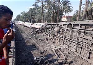 الصحة: نقل 22 مصابًا بحادث قطار البدرشين لمستشفى العجوزة
