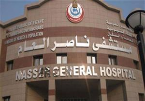 حريق في مستشفى ناصر المركزي ببني سويف