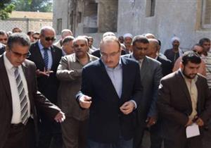 محافظ بني سويف يتفقد عددًا من قرى مركز ناصر