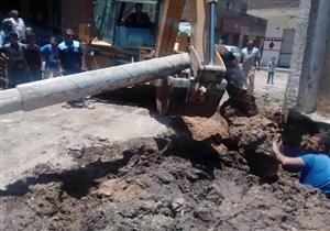 """محافظ سوهاج يعلن إصلاح كسر خط مياه """"الديابات """""""