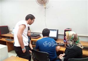 تنسيق الجامعات.. توافد طلاب المرحلة الأولى على معامل عين شمس -صور وفيديو