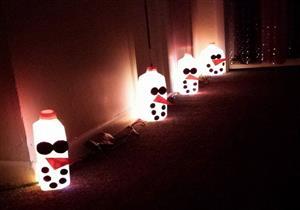وقت الاحتفال.. اصنع سلسلة أضواء من علب الحليب القديمة