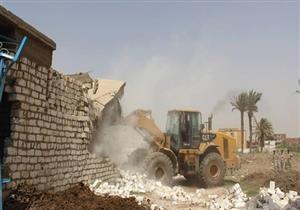 إزالة التعديات على 100 فدان أملاك دولة في بني سويف