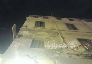 """قتيل ومصابان في انهيار جزئي بعقار """"سوق الكانتو"""" بالإسكندرية (صور)"""