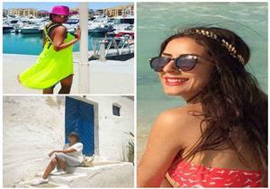 ليالي الصيفية| هند صبري تستجم في تونس وإيمى سالم بالمايوه