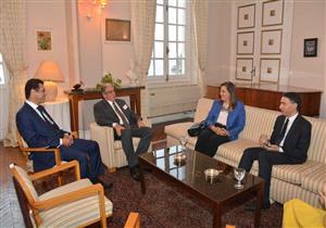 وزيرة التخطيط تبحث مع غرفة التجارة الفرنسية تعزيز التعاون بين البلدين