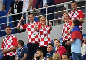 حماس رئيسة كرواتيا ودعم زوجة مدرب إنجلترا.. ضمن أبرز لقطات المونديال
