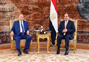 """""""استعادة الاستقرار"""".. تفاصيل مباحثات السيسي والرئيس اليمني"""